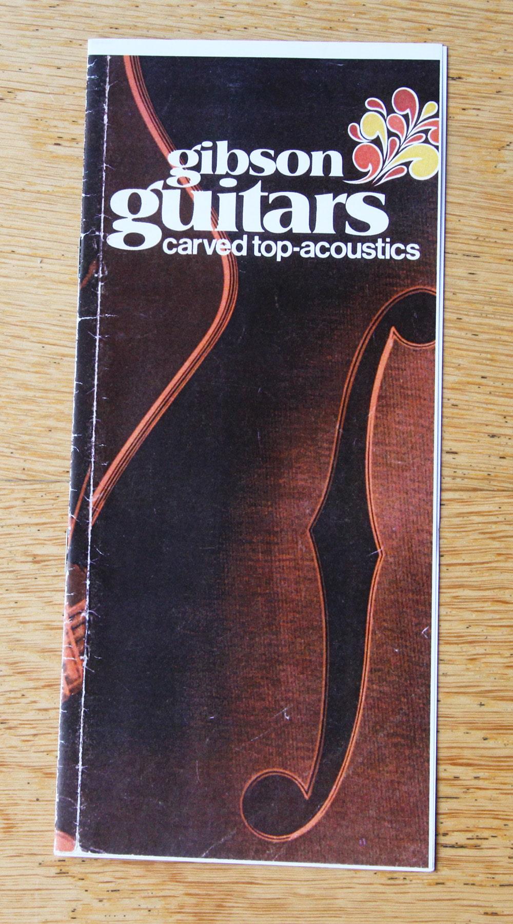 Gibson guitar catalogue