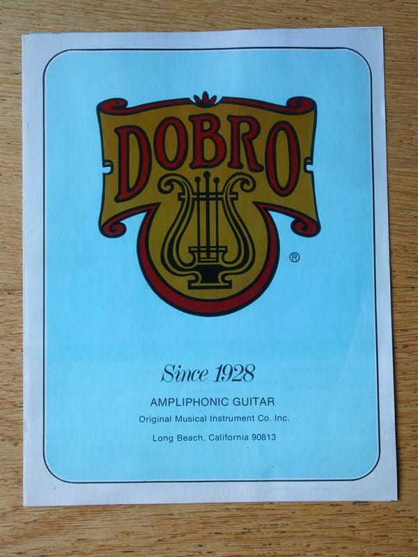 Dobro guitar catalogue