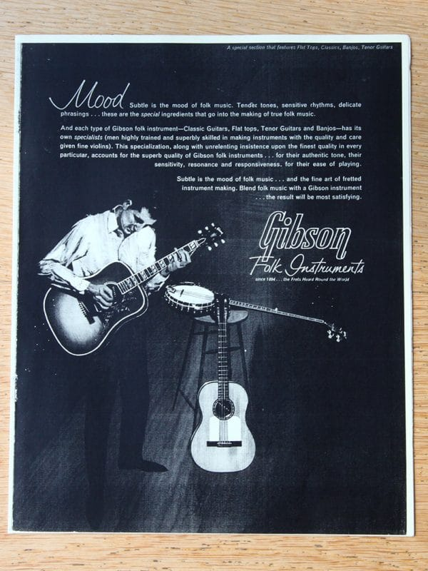 Gibson folk instrument guitar catalogue