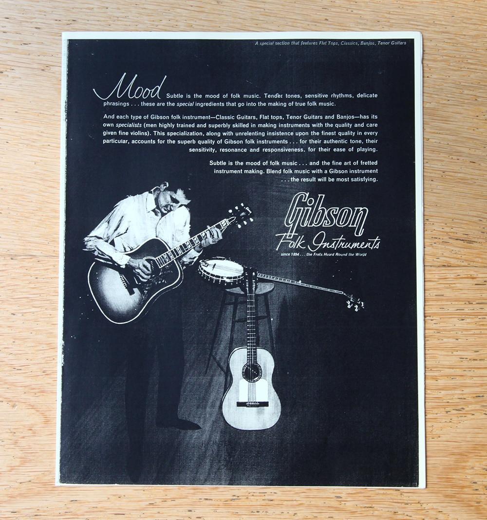 Gibson folk instrument guitar catalogue