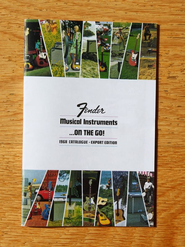 Fender guitar catalogue