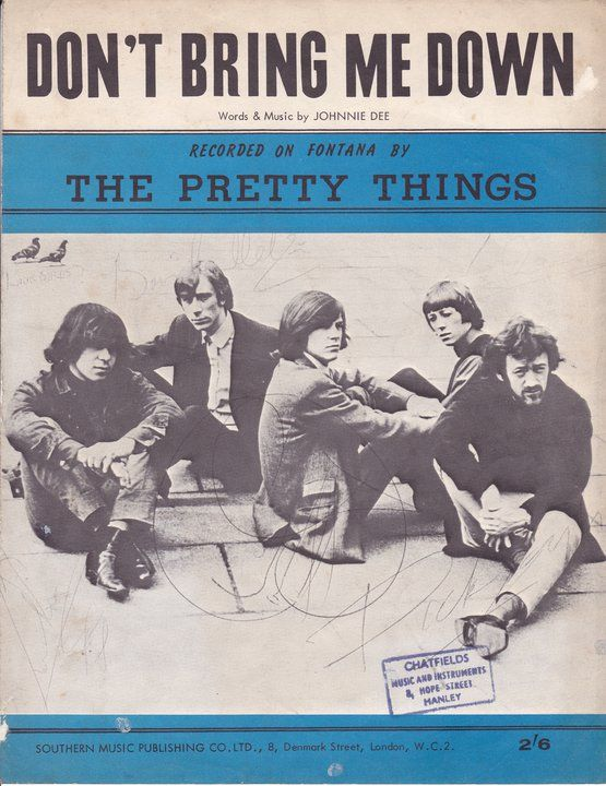 Pretty Things signed sheet music